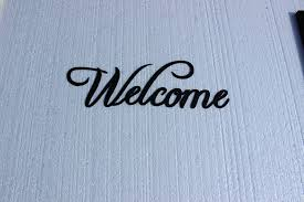 Welcome Home Decor Amazon Com Welcome Word Fancy Script Home Decor Metal Wall Art