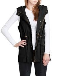 womens zip up anorak military cargo vest with hoodie cargo vest