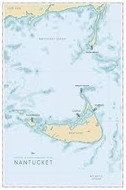 Nantucket Map Barton U0026 Gray Mariners Club