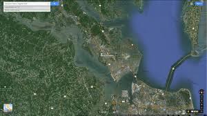 Satellite Map Usa Newport News Virginia Map