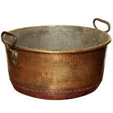 copper log bucket large firewood bucket bin fireplace antique
