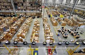 amazon black friday how many per cent sale amazon u0027s warehouse prepares for black friday orders daily mail