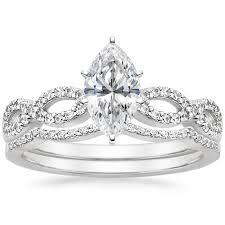 marquise cut wedding set marquise cut infinity wedding ring set 18k white gold