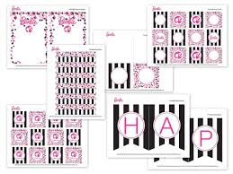 barbie birthday party with free printable barbie designs