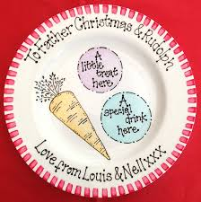 christmas plates treat plate for christmas plate for santa bluebelle create