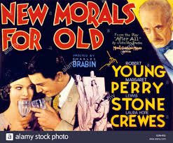 new morals for old bottom l r myrna loy robert young top right