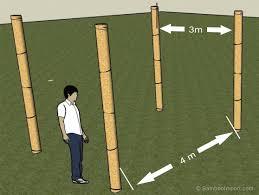tonnelle en bambou hoe bouw je een bamboe pergola bambous pinterest bambou et