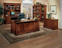 furniture astounding stained wood home office desk design