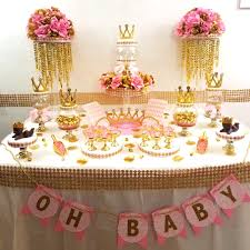 princess baby shower candy buffet centerpiece with baby shower
