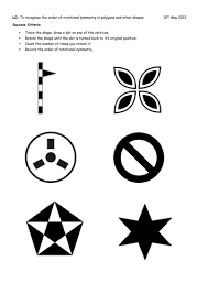rotational symmetry by mattsteel87 teaching resources tes