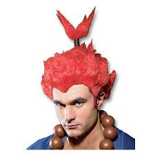 Street Fighter Halloween Costumes Akuma Street Fighter Wig Video Game Cosplay Wig Streetfighter