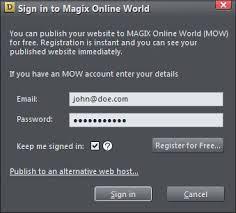 magix web designer 9 publish websites help support magix web designer your