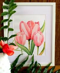 watercolor tulips free print refresh restyle