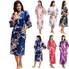robe de chambre en soie femme femme satin soie kimono robe de chambre peignoir mariage pyjama