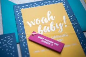 festive baby shower invitations with foil sprinkles