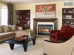 Fine Cozy Modern Living Room With Fireplace Accent Wall And Custom - Living room with fireplace design