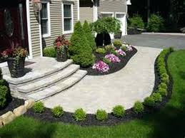 Simple Garden Landscaping Ideas Ideas For Front Garden Landscaping Easy Care Evergreen Entryway