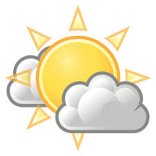 weather free stock photo illustration of the sun with clouds