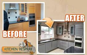 spray paint kitchen cabinets hertfordshire kitchen respray farrow and manor house grey kitchen