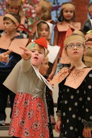 laurel and shepardson perform classic thanksgiving school plays