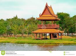 traditional thai wooden house stock photo image 29343120