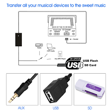 generic usb vw02 volkswagen audi12p usb aux audio adapter