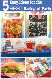 5 easy ideas for best backyard party