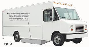 truck van bottom door utility van to protect utility workers from traffic