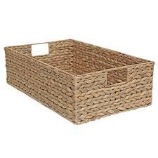 Long Wicker Drawer Shelf Storage Basket Water Hyacinth Size