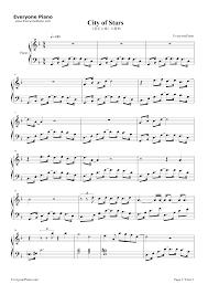 stars la la land theme stave preview 1 free piano sheet