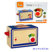 Fun Toaster Fun Factory Wooden Toaster With 2 Slices Bread