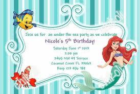 birthday invites cute design little mermaid birthday invitations