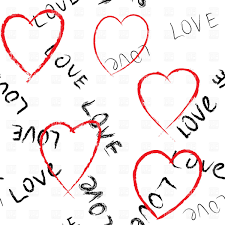 valentine u0027s day seamless background with hearts and inscription