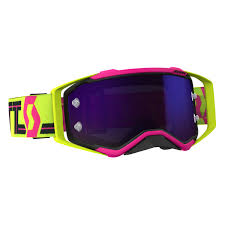100 motocross goggle accuri chapter scott 2018 goggle prospect pink gelb violett chrom works