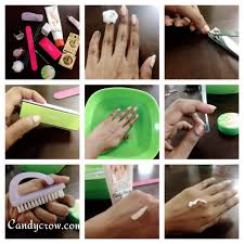 diy manicure in 6 steps candy crow