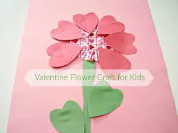 valentine flower craft fine motor cutting and gluing activity
