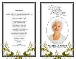 memorial program template funeral program template 14 back and front covers memorial