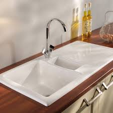 White Kitchen Faucet by Porcelain Kitchen Sink White For Faucets With High Rainfall