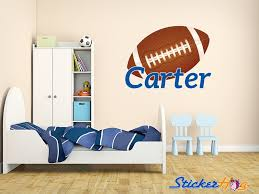 Monogram Wall Decals For Nursery Custom Football Name Monogram Decal Nursery Room Vinyl Wall Decal