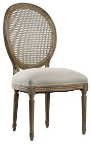 Cane Back Dining Room Chairs Medallion Side Chair With Cane Back Gray Oak Traditional