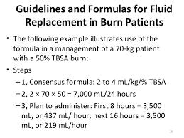management of a burn patient