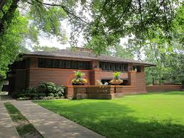 Home Design Exterior And Interior by Frank Lloyd Wright Architectural Style With Minimalist Exterior