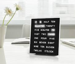 amazon com led word clock displays time as text home u0026 kitchen