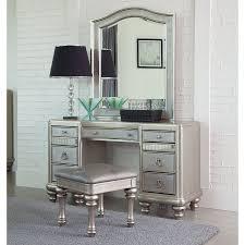 Vanity Company Coaster Company Bling Game Vanity Desk Metallic Platinum