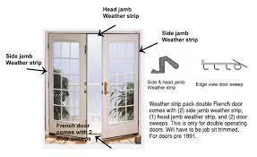Patio Door Weather Stripping Swing Door Weather Kit Pre October 1991
