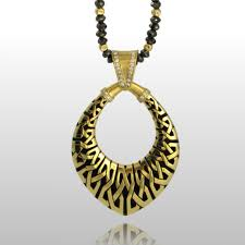 beaded necklace jewelry designs images Black diamond beads gold pendant pratima design fine art jewelry