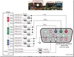 vga to rca video wiring diagram vga pinout diagram vga cable