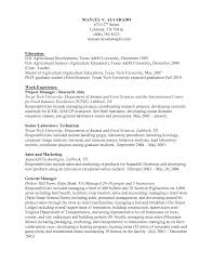 Sample Resume For Agriculture Graduates by Sample Resume For Agriculture Graduates Resume For Your Job