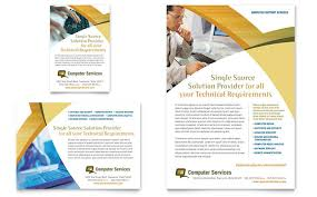 computer services u0026 consulting flyer u0026 ad template design