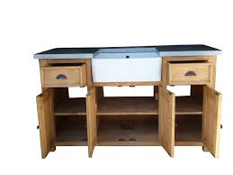 meuble cuisine zinc impressionnant meubles cuisine bois massif 1 grand meuble evier